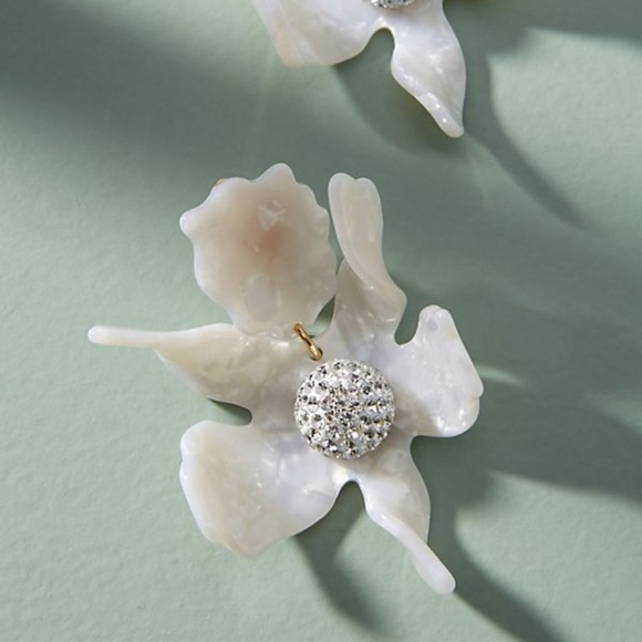 7607f9773 Anthropologie Jewelry | Nwot Lele Sadoughi Crystal Lily Earrings ...
